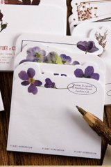 Stationery Office Supplies Die cut Notes Memo - Flower Blossom - Orchid