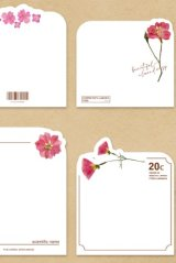 Stationery Office Supplies Die cut Notes Memo - Flower Blossom - Petit Flower