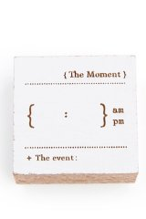 Wooden Rubber Stamp - Time Clock - time management