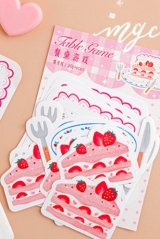 Stationery Office Supplies Notes Memo - Kitchen Desk - strawberry cake
