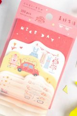 Stationery Office Supplies Die cut Notes Memo - Girly Heart - nice day