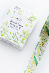 Kawaii Bentoto Washi Masking Tape - Gilding Floral - foggy willow