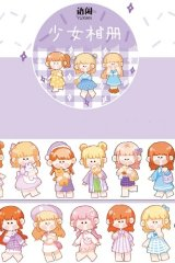 Kawaii Wide Washi Masking Tape - cute girls - album