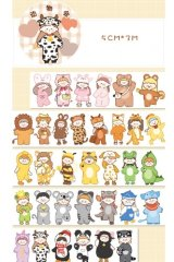 Kawaii Wide Washi Masking Tape - dressing room - animal party
