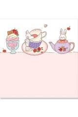 Kawaii Cartoon Journal Bujo Notes Memo - with you - cream sweet strawberry
