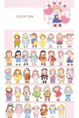 Kawaii Wide Washi Masking Tape - dressing room - girl closet