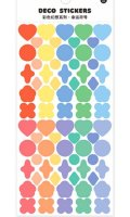 Kawaii Journal Planner Stickers Set - colorful fantasy - lucky mark