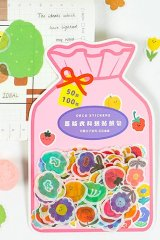 Kawaii Japanese Washi Paper Planner Sticker Sack - lovely days - flowers
