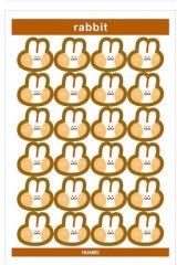 Kawaii Journal Planner Stickers Set - cartoon - rabbit