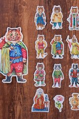 Kawaii Planner water-proof Stickers Set - Fairy Tale House - boots cat