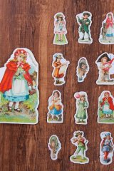 Kawaii Planner water-proof Stickers Set - Fairy Tale House - red riding hood