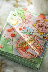 cute Paper Stationery Folding Memo Notes - spring cherry - afternoon time