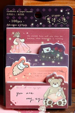 Photo1: cute Paper Stationery Sticky Notes Memo - star story - wish