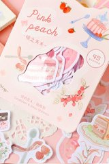 Cute Planner Bujo Sticker Sack - Afternoon Time - Pink Peach