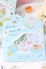 Cute Planner Bujo Sticker Sack - Afternoon Time - Blue snack