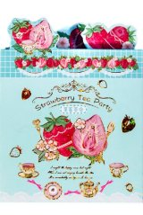 cute Paper Stationery Folding Memo Notes - sweet strawberry - tea party