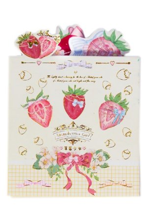 Photo1: cute Paper Stationery Folding Memo Notes - sweet strawberry - girl
