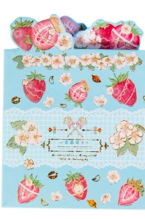 Photo1: cute Paper Stationery Folding Memo Notes - sweet strawberry - Knight