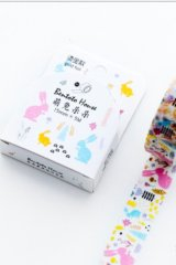 Kawaii Bentoto Washi Masking Tape - Gilding Floral - Rabbit
