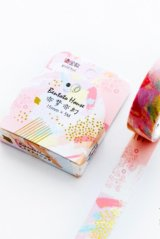 Kawaii Bentoto Washi Masking Tape - Gilding Floral - Like a dream