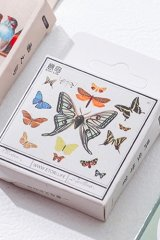 kawaii Planner Paper Label Sticker Box - butterfly insects