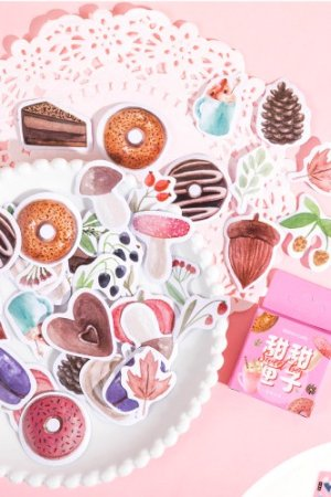 Photo1: kawaii Planner Paper Label Sticker Box - Sweets Box