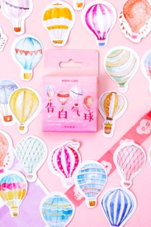Photo1: Lovely Planner Paper Label Sticker Box - balloon