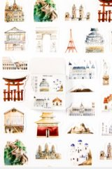 Lovely Planner Paper Label Sticker Box - World Architecture History