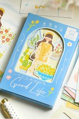 Kawaii Post Card Set - painting - lovely life