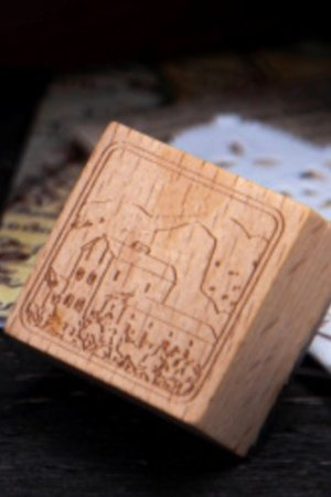 Photo2: Stationery Planner Wooden Rubber Stamp - Dream City - art city