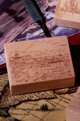 Stationery Planner Wooden Rubber Stamp - Dream City - Garden Country