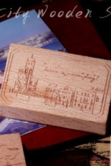 Stationery Planner Wooden Rubber Stamp - Dream City - Venice