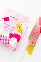 slim Kawaii Washi Masking Tape - Bentoto - mountain Fuji. flowers