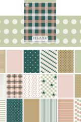 Kawaii Planner Bujo Washi Paper Sticker Book - basic pattern - Green Island