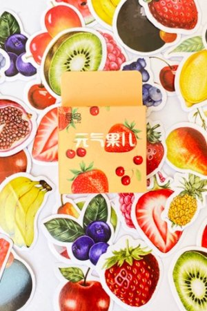 Photo1: Lovely Planner Paper Label Sticker Box - healthy fruits