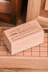 Planner Wooden Rubber Stamp - daily - item (my target)