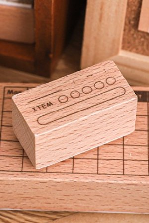 Photo1: Planner Wooden Rubber Stamp - daily - item (my target)