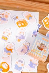 Kawaii School Office Supplies Planner Sticker Box - rabbit - go to school