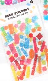 Kawaii Glitter Journal Planner Stickers Set - sweets shop - Pineapple
