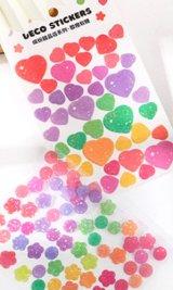 Kawaii Glitter Journal Planner Stickers Set - sweets shop - Orange candy