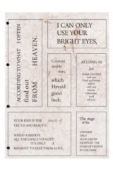 Planner Sticker Sack Flake Book -Shakespeare - old diary 3 sheets