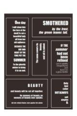 Planner Sticker Sack Flake Book -Shakespeare - memo 3 sheets