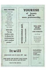Planner Sticker Sack Flake Book -Shakespeare - memory 3 sheets