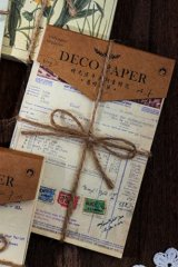 Vintage Style DIY Supplies Deco Paper Materials Pack - time after time - old list
