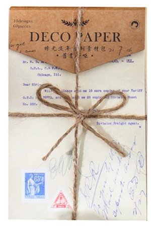 Photo1: Vintage Style DIY Supplies Deco Paper Materials Pack - time after time - old books