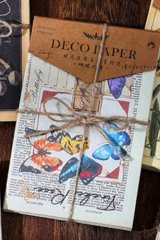 Vintage Style DIY Supplies Deco Paper Materials Pack - time after time - poets of butterfly