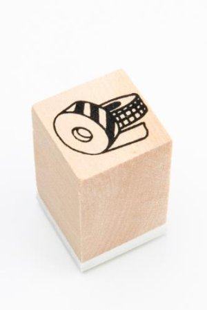 Photo1: Lovely Wooden Rubber Stamp - Planner - tape
