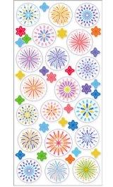 Kawaii Planner Sparkling Sticker Set - Fireworks