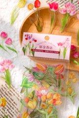Kawaii PET Bujo Planner Sticker Sack - Plant Natural Book - tulip