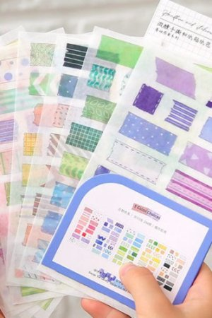 Photo1: Kawaii Bujo Planner insta style cute colorful sticker materials